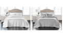 Martha Stewart Collection Embroidered Silky Satin Bedspread King , Created for Macy's