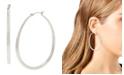 "Jessica Simpson Oval Hoop Earrings, 2.5"""