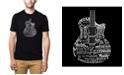 LA Pop Art Men's Premium Word Art T-shirt - Languages Guitar