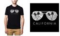 LA Pop Art Men's Premium Word Art T-shirt - California Shades