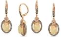 Le Vian Neopolitan Opal (2 ct. t.w) & Diamond (7/8 ct. t.w.) Drop Earrings in 14k Rose Gold