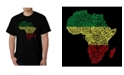 LA Pop Art Men's Word Art - Countries in Africa T-Shirt