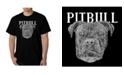 LA Pop Art Men's Word Art - Pitbull Face T-Shirt