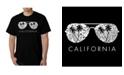 LA Pop Art Men's Word Art - California Shades T-Shirt