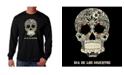 LA Pop Art Men's Word Art - Dia De Los Muertos Long Sleeve T-Shirt