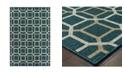 """JHB Design Scope SCO12 Blue 9'10"""" x 12'10"""" Area Rug"""