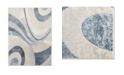"""Global Rug Designs Brighton Bri13 Blue 6'7"""" x 9'10"""" Area Rug"""