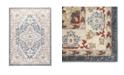 "Global Rug Designs Barnes Bar03 Blue and Ivory 5'3"" x 7'3"" Area Rug"