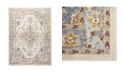 "Global Rug Designs Barnes Bar03 Ivory and Blue 7'10"" x 10'2"" Area Rug"