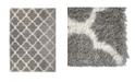 "Global Rug Designs Barnes Bar04 Silver 7'10"" x 10'2"" Area Rug"