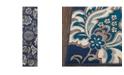 """Global Rug Designs Haven Hav08 Navy 1'9"""" x 7'2"""" Runner Rug"""