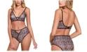 Hauty Women's Printed Mesh V-Wire Bralette, Online Only