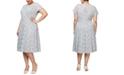 SL Fashions Plus Size Embellished-Lace Midi Dress