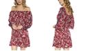 Teeze Me Juniors' Off-The-Shoulder Printed Dress