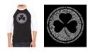 LA Pop Art Lyrics to When Irish Eyes Are Smiling Men's Raglan Word Art T-shirt
