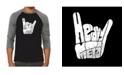 LA Pop Art Heavy Metal Men's Raglan Word Art T-shirt