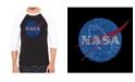 LA Pop Art Nasa Men's Raglan Word Art T-shirt