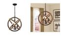 "Home Accessories Twirlie 20"" 3-Light Indoor Chandelier with Light Kit"