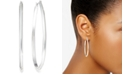 Charter Club Silver-Tone Inside Out Hoop Earrings