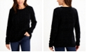 Karen Scott Chenille Cable-Knit Sweater, Created for Macy's