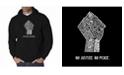 LA Pop Art Men's Word Art Hooded Sweatshirt - No Justice, No Peace
