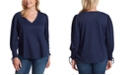 Jessica Simpson Trendy Plus Size Mercer Lace-Up-Sleeve Top