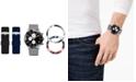 American Exchange Men's Interchangeable Strap & Bezel Watch 46mm, Gift Set
