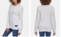 Calvin Klein Jeans Crew-Neck Puffed-Shoulder Sweater