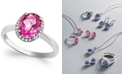 Macy's 14k White Gold Pink Topaz (2 ct. t.w.) and Diamond Accent Ring