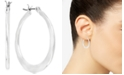 Robert Lee Morris Soho Small Silver-Tone Hammered Hoop Earrings