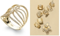 EFFY Collection D'Oro™ by EFFY® Diamond Swirl Ring in 14k Gold (1/2 ct. t.w.)