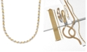 Italian Gold X-Necklace in 10k Yellow and White Gold