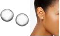 Lauren Ralph Lauren Silver-Tone Metal Bead Stud Earrings (8 mm)