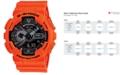 G-Shock Men's Analog-Digital Orange Resin Strap Watch 55x51mm GA110MR-4A