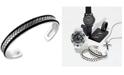EFFY Collection EFFY® Men's Woven Cuff Bracelet in Sterling Silver