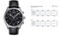 Tissot Men's Swiss Chronograph Tissto PR 100 Black Leather Strap Watch 41mm T1014171605100