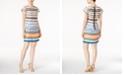 kensie Floral Striped Sheath Dress