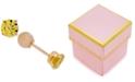 Macy's Children's Cubic Zirconia November Birthday Reversible Earrings in 14k Gold
