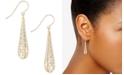 Macy's Teardrop Two-Tone Openwork Drop Earrings In 14k Gold and White Gold