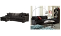 Furniture Closeout Teddy Fabric 2 Piece Chaise Sectional