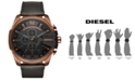 Diesel Men's Chronograph Mega Chief Leather Strap Watches