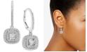 Macy's Diamond Halo Drop Earrings (1/2 ct. t.w.)