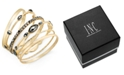 INC International Concepts I.N.C. Gold-Tone 6-Pc. Set Hematite Stone Bangle Bracelets, Created for Macy's