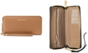 Michael Kors Mercer Travel Continental Pebble Leather Wristlet