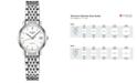 Longines Women's Swiss Automatic Elegant Stainless Steel Bracelet Watch 26mm