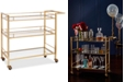 Martha Stewart Collection Barware with a Twist Bar Cart