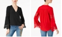 INC International Concepts INC Lace Surplice Top, Created for Macy's