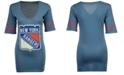 Retro Brand Women's New York Rangers Vintage Sleeve Stripe T-Shirt