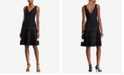 Lauren Ralph Lauren Tulle-Trim Fit & Flare Dress