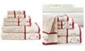 Madison Park Cotton 6-Pc. Embroidered Serene Jacquard Towel Set